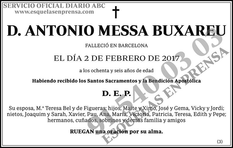 Antonio Messa Buxareu